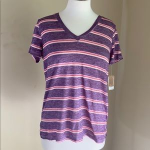 New with tags Mudd purple stripe v neck tee